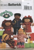 Butterick 5303 Pattern for Cabbage patch doll clothes designed to fit 16 and 50cm doll.