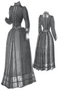 1889 Dress with Handkerchief Borders Pattern