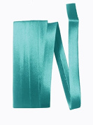Bias Satin Tape ~ 1.3cm Wide Double-fold Bias Tape ~ Turquoise Green ~ Poly Cotton (3 Yards / Pack) Set of 4