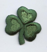 Small Shamrock Iron on Embroidered Patch