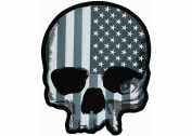 Lethal Threat (LT30183) USA Skull Grey LG Embroidered Patch
