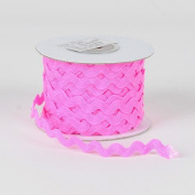 Shocking Pink Ric Rac Trim 7mm - 25 Yards