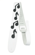 Perris Leathers BMN-1253 6.4cm Leather Adjustable Guitar Strap with Music Notes