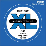 D'Addario XLB165T Nickel Wound Bass Guitar Single String, Long Scale, .165, Tapered