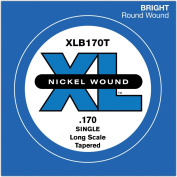D'Addario XLB170T Nickel Wound Bass Guitar Single String, Long Scale, .170, Tapered