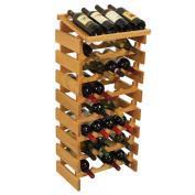 Wooden Mallet 32 Bottle Dakota Wine Rack with Display Top Light Oak