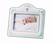 Russ Berrie Small Blessings Frame with Cross Icon, Blue