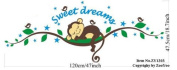 Sweet Dream Sleepy Little Monkey Rest on Tree Vine Monkey wall decal nursery wall decal