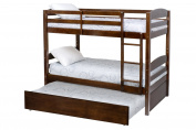 Million Dollar Baby Kids' Bailey Bunk Bed Trundle, Espresso