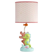 Carter's Sea Collection Lamp and Shade, Pink/Blue/Turquoise
