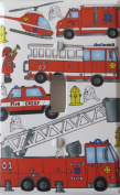 Fire Trucks Light Switch Plate Cover Single Toggle / Fire Engines / Firetruck Wall Decor