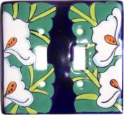 Lily Talavera Ceramic Double Switch Plate