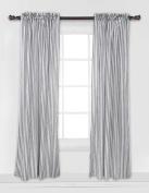 Bacati - Grey Pin Stripes Curtain Panel