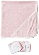 Burt's Bees Baby 2 Ply Towel + 3 Washcloth Set - Blossom