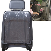 Black Car Auto Seat Back Kick Protector Cover Mats for Children Kids Clean