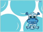 KidKusion High Chair Splat Mat, Hippo