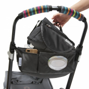 CityStroll 2-in-1 Stroller Organiser /Caddy & Take with You Shoulder Bag, Black