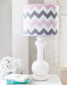 My Baby Sam Chevron Baby in Pink Lamp, Pink/Grey