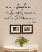 Bless the food before us, the family beside us, and the love between us. Amen Vinyl Wall Decals Quotes Sayings Words Art Decor Lettering Vinyl Wall Art Inspirational Uplifting