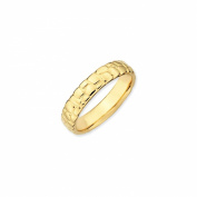 4.5mm Stackable 18K Yellow Gold Plated Silver Cobblestone Band