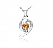 KATGI Fashion White Gold Plated Lucky Angel Beautiful Crystal Pendant Necklace