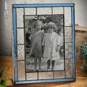 J Devlin 5x7 Vertical Glass Photo Frame - Vintage & Pale Blue