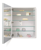 Jensen 52WH304DP Metro Deluxe Oversize Medicine Cabinet with Bevelled Mirror, 60cm by 80cm