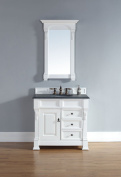 James Martin Furniture 147-114-5546-blk Brookfield 36 Cottage Single Vanity W/ Drawers With Absolute Black Rustic Stone Top