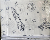 Charles Street 3pc Twin Sheet Set Space Planets UFOs Rockets