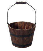 Cheung's Rattan Imports Wooden Bucket with Handle