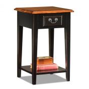 Leick Shaker Square End Table, Slate Black