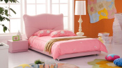 Pink Leather Kitty Kids Bed