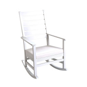 Gift Mark 4000W Mission style Adult Rocking chair with Upholstered Seat