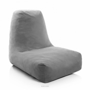 LUCID Oversized Shredded Foam Lounge Chair - Charcoal