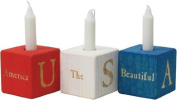 Patriotic Candle Blocks - Made in USA