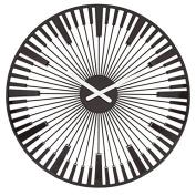 Koziol Piano Plastic Wall Clock 46cm , Black