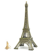 12 Inch (30cm) Metal Eiffel Tower Statue Figurine Replica Centrepiece Room Table Décor Jewellery Stand Holder French Souvenir Gift