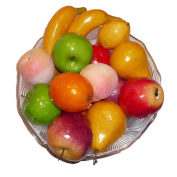 Artificial Apples, Oranges, Bananas, Pears, Peaches and Lemons - Set of 17 Fruits