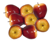 Artificial Red Apples for Decoration - Set of 8