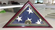 Army Flag Display Case-Cherry Finish, Veteran Memorial for 1.5m X 2.9m Flag, FC59-CH