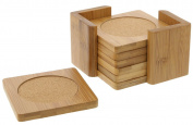 Bamboo Coasters - Juvale Bamboo Drink Coaster - 6 Piece Set
