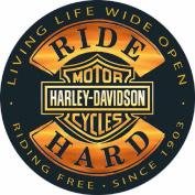 Harley-Davidson® 36cm Round Sign - Ride Hard - AR2010671 Tin