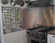 Stainless Backsplash, 90cm X 80cm with Hemmed Edges