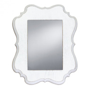 Prinz Annabelle Mirror with White Ashwood Veneer Wood Frame, 36cm by 30cm