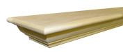 Frederick Mantel Shelf Paint Grade Unfinished Poplar 180cm W x 18cm - 1.9cm D x 7.6cm - 1.9cm H