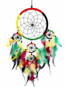 Handmade Colourful Dream Catcher Decorative Hanging Ornament -6.5 Dia-60cm L