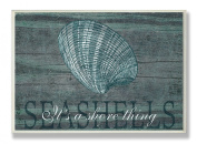 The Stupell Home Decor Collection It's a Shore Thing Seashell Rectangle Wall Plaque