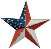 Dimensional Steel Metal Barn Star, 30cm , Distressed Americana Flag Finish