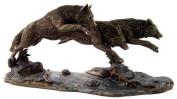 Bergsma Wolves Running Statue Wolf Sculpture SHIPS IMMEDIATLY !!