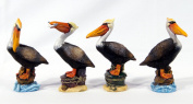 Handpainted Pelican Bird Figurine 17cm